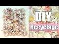 DIY Recyclage room decor | Tableau relief en fleurs artificielles