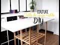 Table de coupe textile mobile