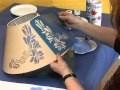 Le pochoir 6 - décoration d'un abat-jour