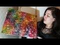 Tutoriel Peinture : Fond Acrylique Coloré - Glacis et Textures