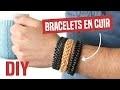 DIY - Bracelets Cuir Tressés 4 à 6 brins Epis Arêtes Celtique Idée Cadeau Homme St Valentin