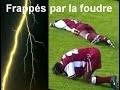 Joueurs de football frappés par la foudre - Afrique-du-Sud - Arrêt du match et grande peur !