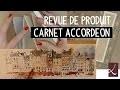 Test produit : carnet accordéon, croquis et aquarelle par l'Atelier de Louise