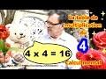 Table de multiplication de 4 et calcul mental : Maths facile ce1 ce2 cm1