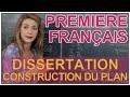Dissertation - Construction du plan - Français 1ère - Les Bons Profs