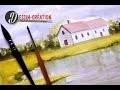 Cours d'aquarelle - peindre un paysage simple