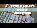 DIY | 🔠 PETIT ALPHABET MOBILE MONTESSORI | Lecture et écriture | Lettres cursives