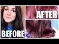 Coloration rouge sur cheveux bruns non décolorés