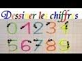 Maths maternelle en ligne : Tracer et dessiner les chiffres de 0 à 9
