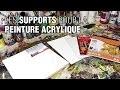 Quels supports utiliser pour la peinture acrylique ?