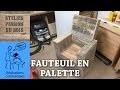 REALISER UN SALON DE JARDIN EN PALETTE : UN FAUTEUIL