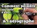 Comment peindre une feuille d'arbre à l'aérographe