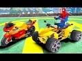 Comptines Bébé - Dessin animé francais 4 voitures colorées et Spiderman Mcqueen Cars. Vidéo éducatif
