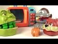 Play Doh Dentiste Shrek et le singe mangent avec Le Micro-ondes et le Chien