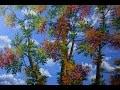 Peindre Le Feuillage Des Arbres, Leçon rapide 4k Ultra- Haute Definition