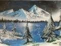 Speed Drawing Nr.1: Space painting winter scene