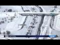 Insolite   spectaculaire tempête de neige aux États-Unis