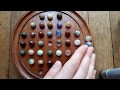 Asmr - Partie de solitaire en bois - billes - no talking - play wood