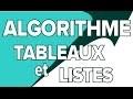 Algorithme - Tableaux et Listes - Mathrix