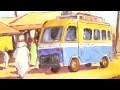 Cours de peinture acrylique: scène de rue africaine