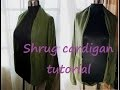 Tuto couture express : DIY Shrug cardigan super easy