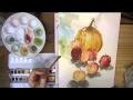 Démo aquarelle fruits et légumes / Watercolor - l'Atelier De Louise