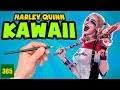 COMMENT DESSINER HARLEY QUINN KAWAII ÉTAPE PAR ÉTAPE – Dessins kawaii facile