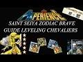 Saint Seiya Zodiac Brave - Guide Leveling des chevaliers- étoiles, niveaux et classe d'armure