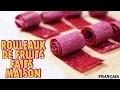 Recette Facile: DIY Fruit Roll Up Recipe in French   Comment Faire Rouleaux de Fruits Faits Maison