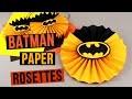 DIY Batman Party Decorations  Paper Rosettes