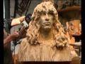 Sculpture à la tronçonneuse par le Maître Jürgen Lingl Rebetz : réalisation d'un portrait part3