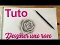Tuto dessin rose tatouage, tattoo apprendre comment dessiner des roses.