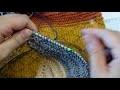 Sixième vidéo du châle multi-points Paint de Katia