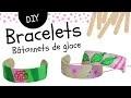 Fabriquer un bracelet avec des bâtonnets de glace en bois (Bricolage facile pour enfants)
