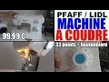 machine à coudre pfaff lidl element 1070s - singer tradition 2282 (copie conforme!)