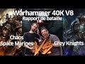 FWS Warhammer 40k V8 Rapport de bataille  Chaos Space Marines VS Grey Knights