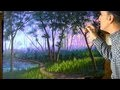 Comment Peindre Brouillard Forêt a l'acrylique sur la toile