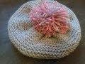 Bonnet Béret 12/24 mois au tricot