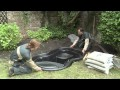 Installation d'un bassin préformé Ubbink