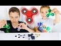 DÉCOUVERTE DE 7 HAND SPINNERS & 2 FIDGET CUBE ! Unboxing & Tests