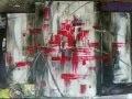 "Peinture abstraite ""Astrantia""- Abstract painting ""Astrantia"""