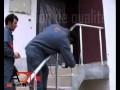 Pose d'une rampe d'escalier