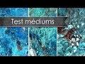 Test comparatif Acrylic pouring : Cléocol, Floetrol et médium Liquitex