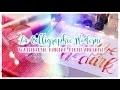 Calligraphie Moderne à l'Aquarelle // 3 outils différents