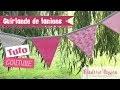 Tuto - Guirlande de fanions en couture