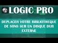 Logic Pro X: De�placer votre bibliothèque de sons sur un disque dur externe (Alias)