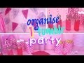 DIY pink party! Comment organiser une fête pas cher ?┃Reva ytb