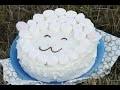 Gâteau en forme de mouton aux chamallows