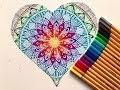 Mon petit coeur - Mandala arc en ciel