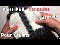 Tutoriel Tricot: Pull Torsade 2 couleurs pour chiens DIY